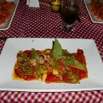 My Green Spinach Ravioli with Fresh Tomatoe Sauce