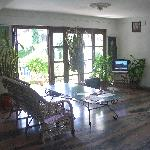 hall and reception, garden view