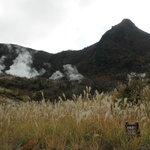 大湧谷からの神山