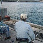 名護漁協の波止場