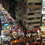 a view of the night market from our room