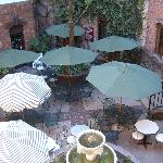 Courtyard for meetings - over 100 year ivy covered bricks