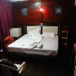 Bedroom with Fridge