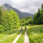 Radfahrer in der Umgebung