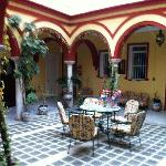 Le patio au premier étage