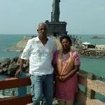 My wife and me in Kanyakumari Vivekananda Memorial
