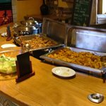 Self-serve lunch buffet at Himalaya