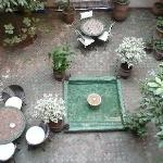 central courtyard in Riad