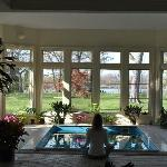 Sitting in the conservatory overlooking the Chesapeake Bay