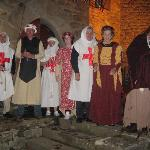 The great medieval night!!!! Costun=mes provided by the chateau!!!