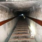 The steps down into the crypt of the Red Pyramid