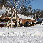 Maine Lodge Winter