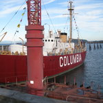 Maritime Museum - Columbia Lightship with retired buoy in front