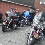 Harleys at White Cottage Snackbar