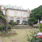 お庭から見た鳩山家