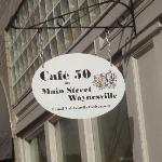 Cafe 50 sign outside