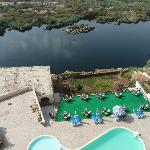 Direct views of the Nile and swimming pool below.