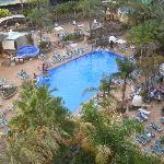 View of the pool from Room 858