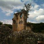 Les ruines de l'abbaye