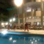 Nightshow at the pool