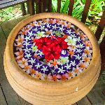 Flower pot decoration around whole resort
