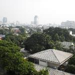 Bangkok city from the balcony of the room