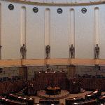 Finnish Parliament chamber