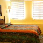 soft inviting bed after all the fun and frolic at Duval!