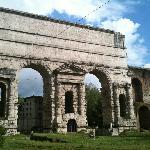 The Porta Maggiore along the way.