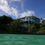 View of the bahama villa from the water