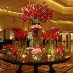 lobby flower decor