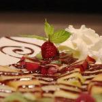 crêpe fruits frais chocolat chantilly