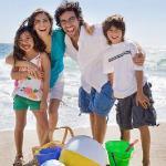 eu e minha familia na praia de Florianópolis