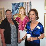 Professor Dudics & her painting