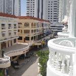 balcony view of the quiet street below