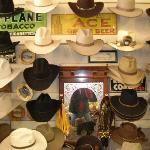 Hundreds of cowboy hats.