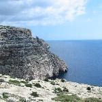 Falaises surplombant les grottes bleues