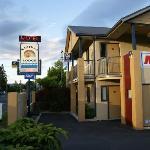 Motelbeschilderung an der Hauptstraße