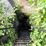Stairs to trail among the rocks