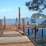 our pier with view into the phang nga bay