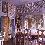 Blue dining room at Helga's Folly, Kandy