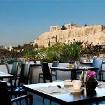 Breakfast with view to the Acropolis