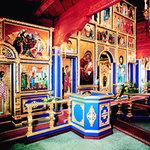 Russisch-orthodoxe Holzkirche des Heiligen Nikolaus