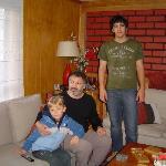 Leonardo com Rodrigo e Felipe