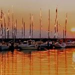 Desenzano Harbour at dawn