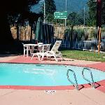 Poolside at Super 8 in Ukiah