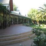 The patio overlooking the garden
