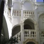 Il cortile interno di Palazzo Ceuli