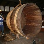 This huge brewing barrel meets you at the Entrance
