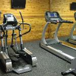 The three pieces of equipment in the gym